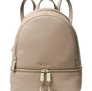 Michael Kors Rhea Zip Sm. Pebble Leather Backpa